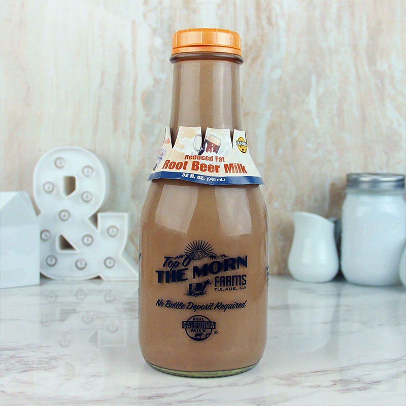 Top O' The Morn Farms Reduced Fat Root Beer Milk Quart