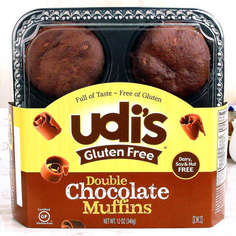 Udi's Gluten Free Muffins Double Chocolate