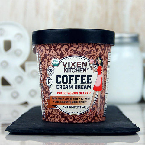 Vixen Kitchen Vegan Gelato Coffee Cream Dream