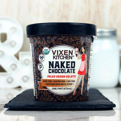 Vixen Kitchen Vegan Gelato Naked Chocolate