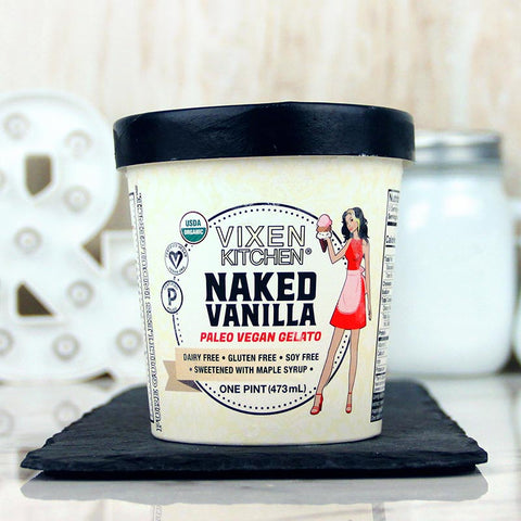 Vixen Kitchen Vegan Gelato Naked Vanilla
