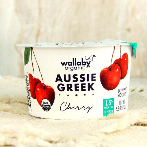 Wallaby Organic Greek Yogurt Lowfat Cherry