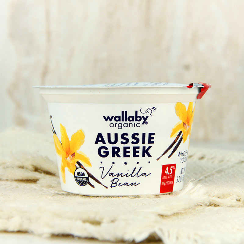 Wallaby Organic Greek Yogurt Whole Milk Vanilla