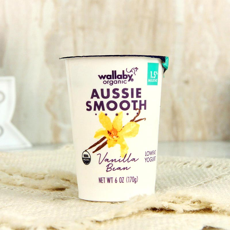 Wallaby Organic Yogurt Lowfat Vanilla Bean