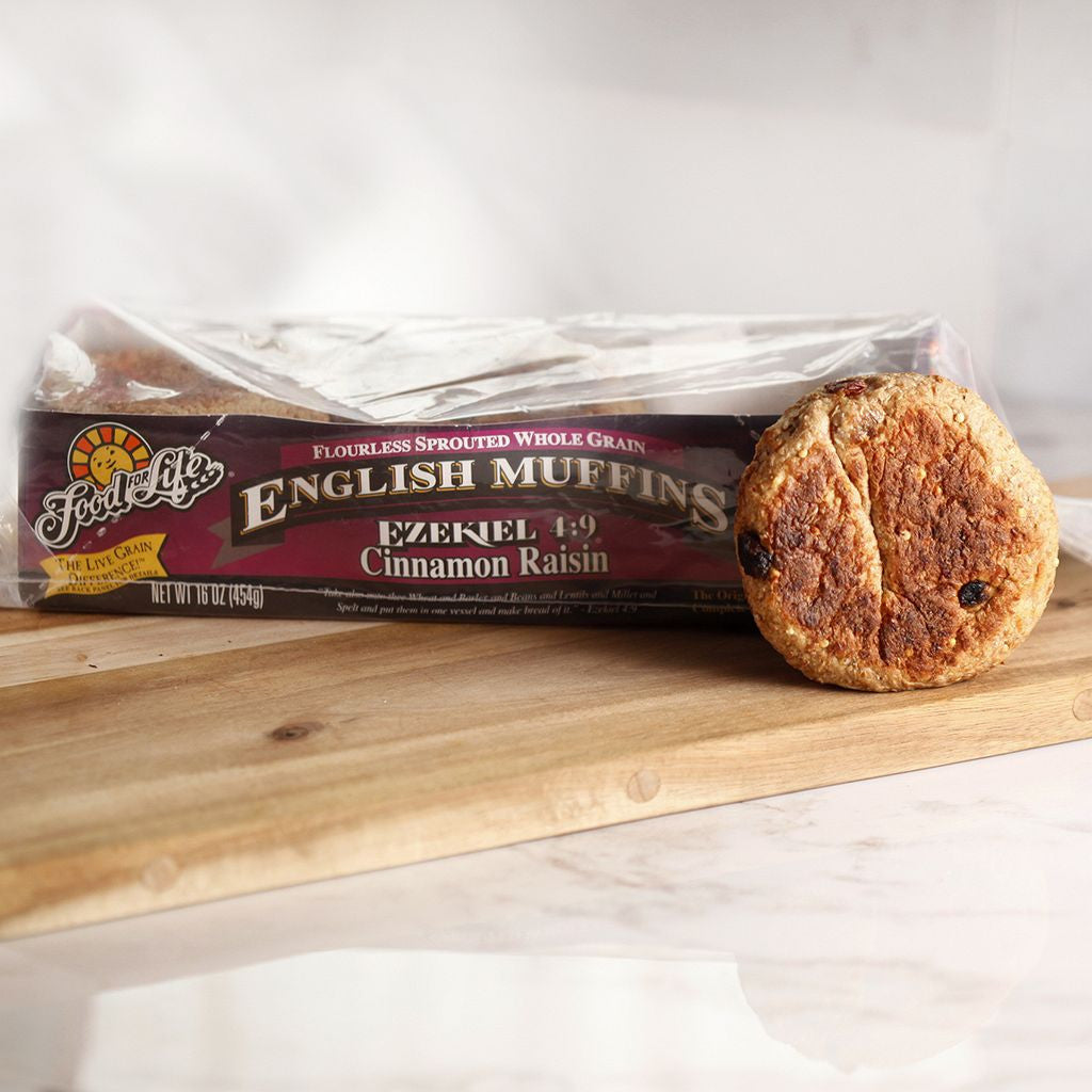 English Muffin Ezekiel 4:9 Cinnamon Raisin - Milk and Eggs