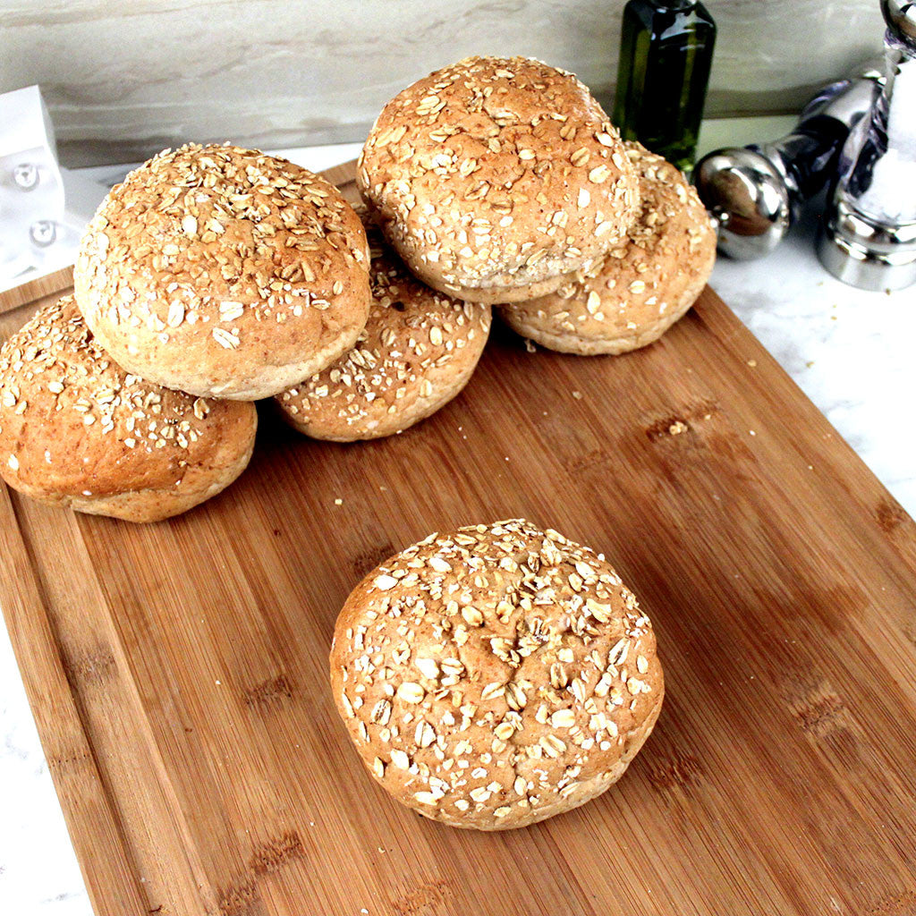 Bread LA Wheat w/ Oats Buns 6ct Bag - Milk and Eggs