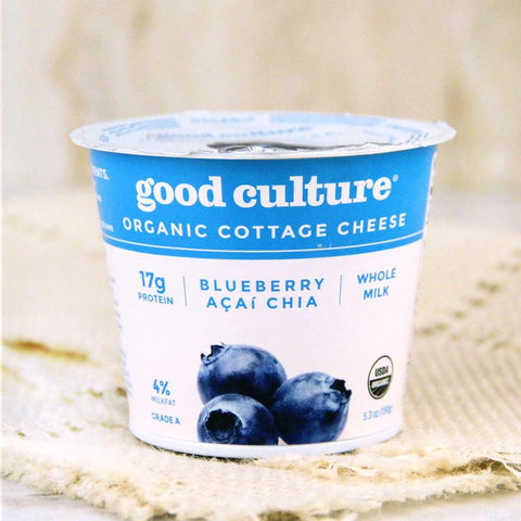Cheese - Good Culture Organic Cottage Cheese Blueberry Chia