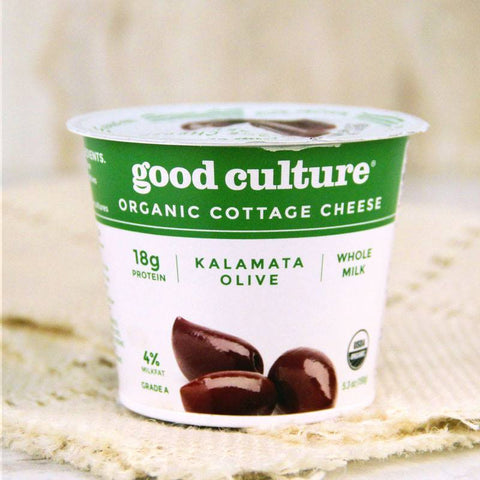 Cheese - Good Culture Organic Cottage Cheese Kalamata Olive