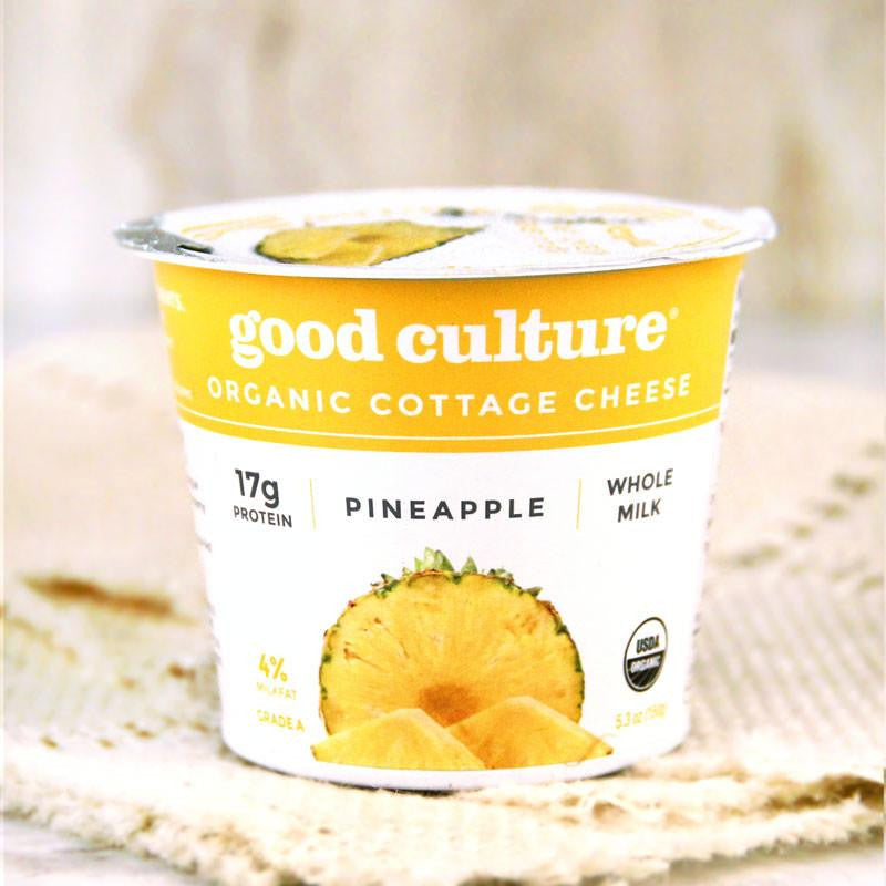 Cheese - Good Culture Organic Cottage Cheese Pineapple