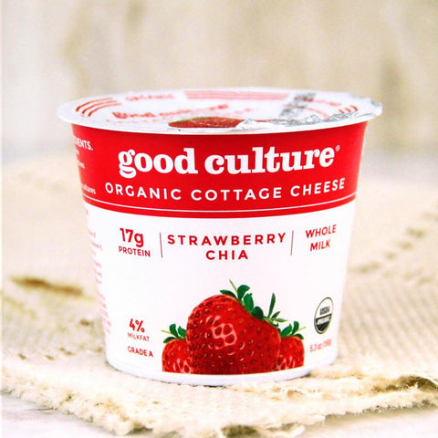 Cheese - Good Culture Organic Cottage Cheese Strawberry Chia