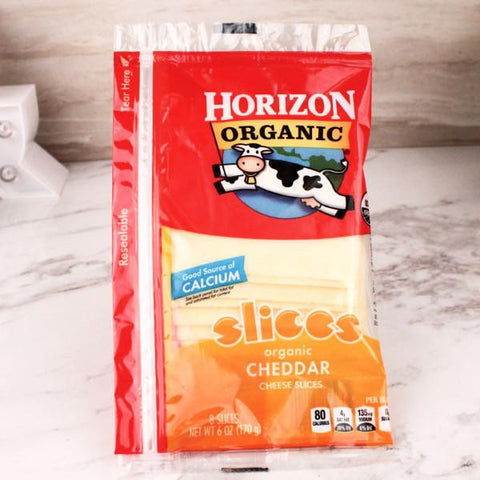 Cheese - Horizon Organic Sliced Cheddar Cheese