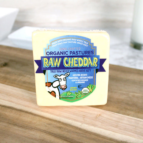 Organic Pastures Raw Cheddar Cheese - Milk and Eggs - 1