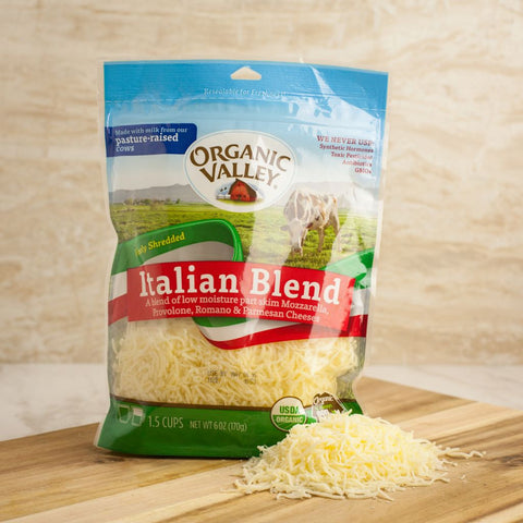 Organic Valley Italian Blend Shredded Cheese - Milk and Eggs - 1