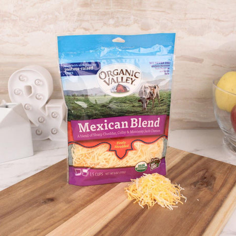 Organic Valley Mexican Blend Shredded Cheese - Milk and Eggs