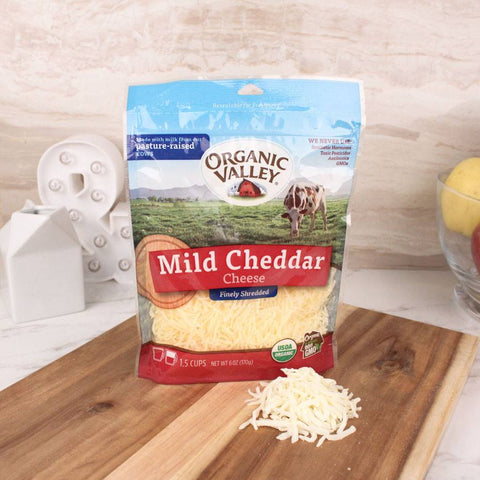 Cheese - Organic Valley Mild Cheddar Shredded Cheese