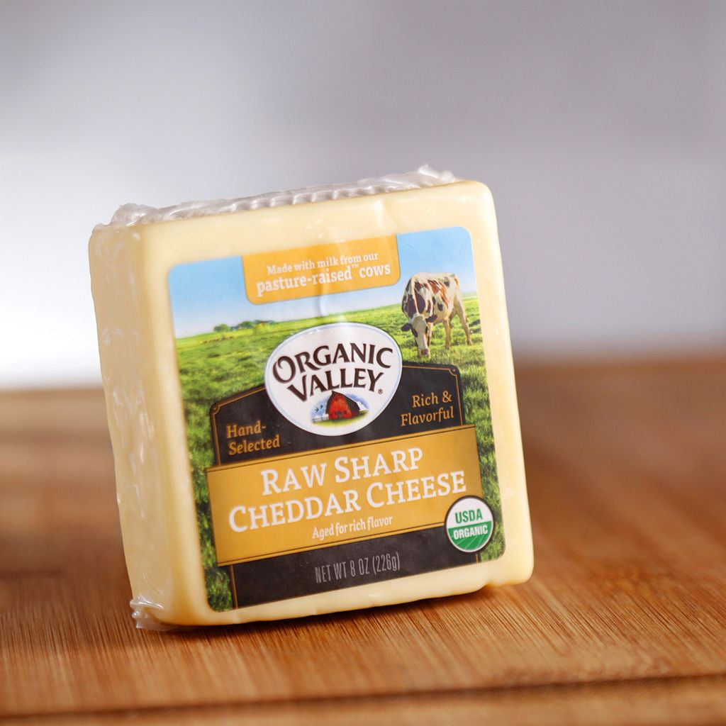 Organic Valley Raw Sharp Cheddar Cheese - Milk and Eggs