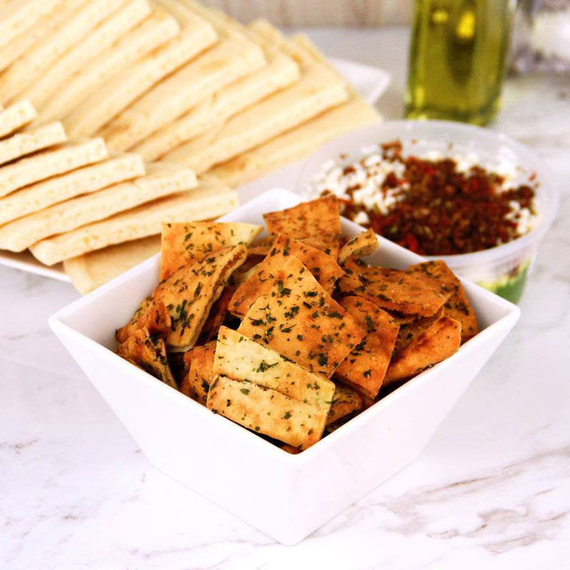 Cookies - Brothers Products Pita Chips Garlic Parsley Baked