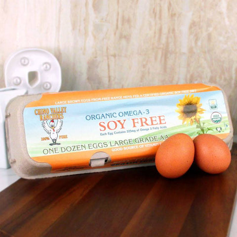 Eggs - Chino Valley Organic Soy Free Omega 3 Eggs Dozen