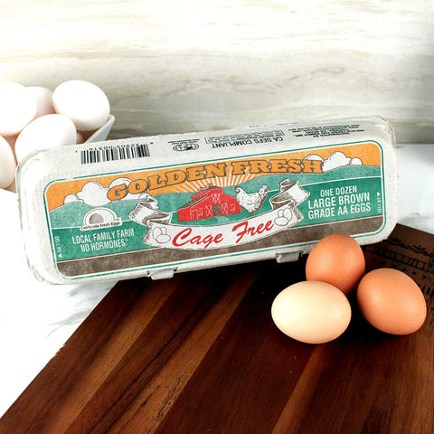 Golden Fresh Cage Free Large Grade AA Brown Eggs - Milk and Eggs - 1