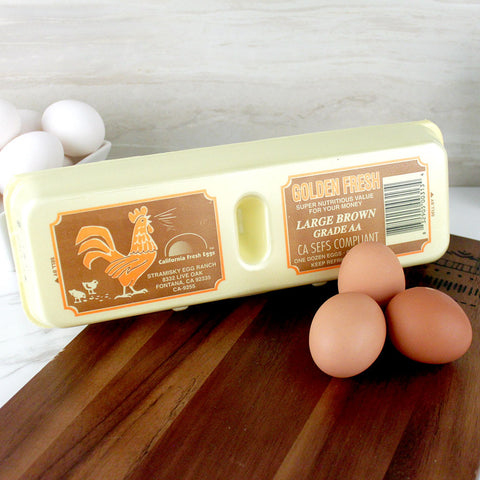 Golden Fresh Large Grade AA Brown Eggs - Milk and Eggs - 1