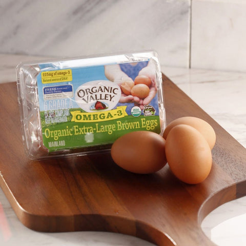 Organic Valley XL Free Range Brown Eggs Omega-3 1/2 Dozen - Milk and Eggs