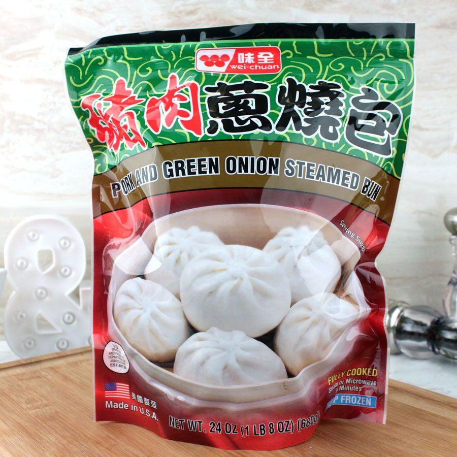 Ethnic Breads - Wei Chuan Pork And Green Onion Bun Frozen