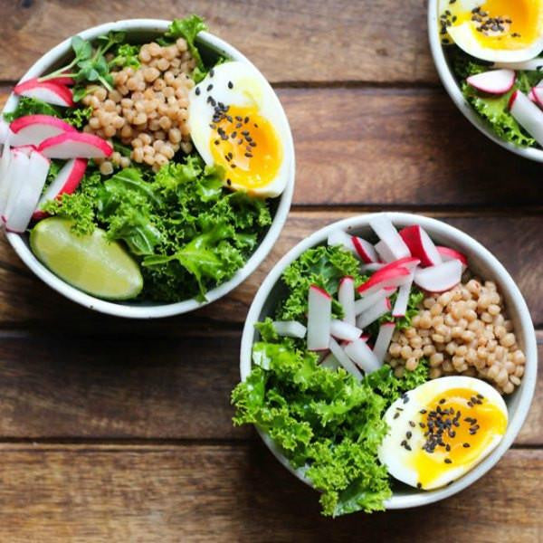 Farm Box - Soft Boiled Egg & Kale Salad Bowl Kit (2 For $12)
