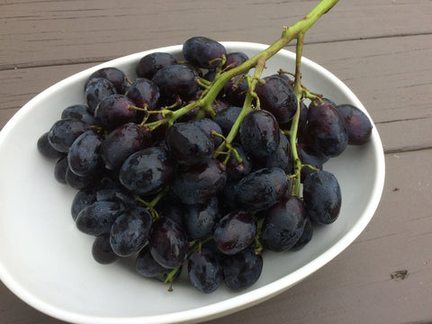 Black Seedless Grapes - Milk and Eggs