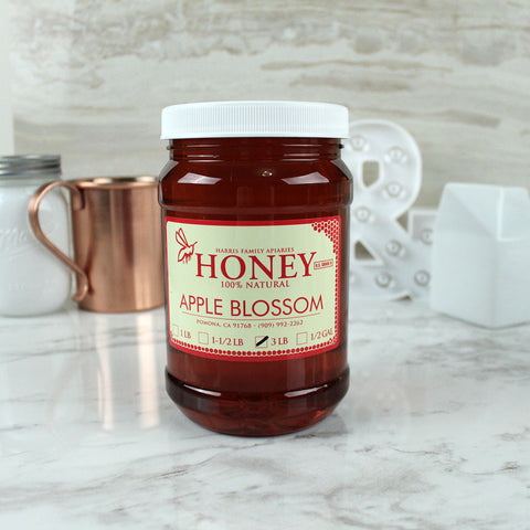 Harris Family Apiaries Apple Blossom Honey 3lb - Milk and Eggs