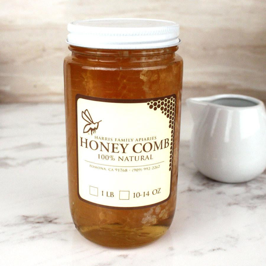 Honey - Harris Family Apiaries Honeycomb Jar