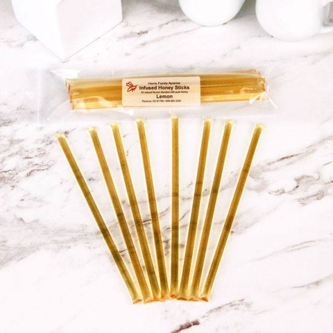 Honey - Harris Family Apiaries Lemon Honey Sticks 8ct