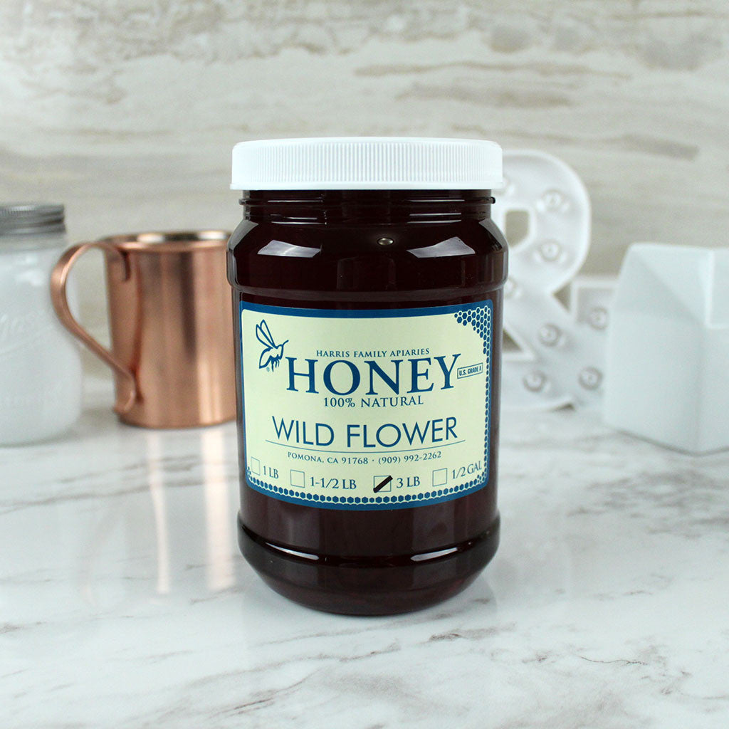 Harris Family Apiaries Wild Flower Honey 3lb - Milk and Eggs