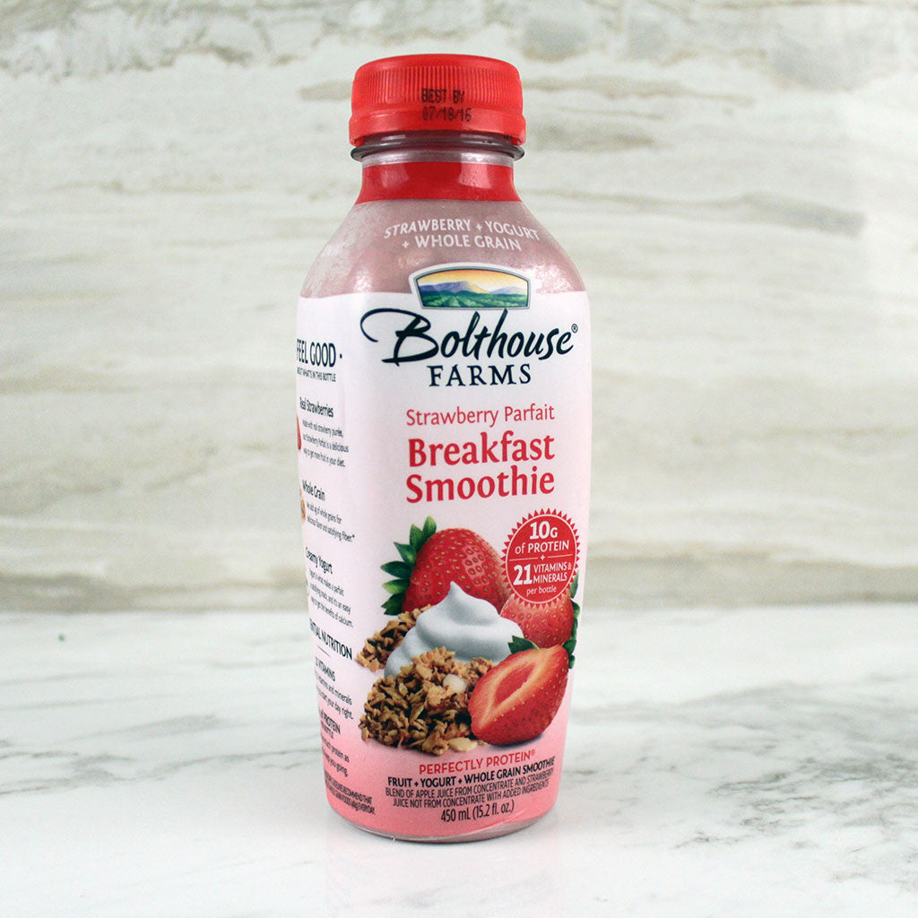 Bolthouse Farms Breakfast Smoothie Strawberry Parfait - Milk and Eggs - 1