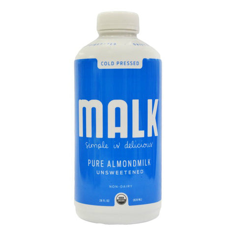 Malk Unsweetened Almond Milk 28 oz
