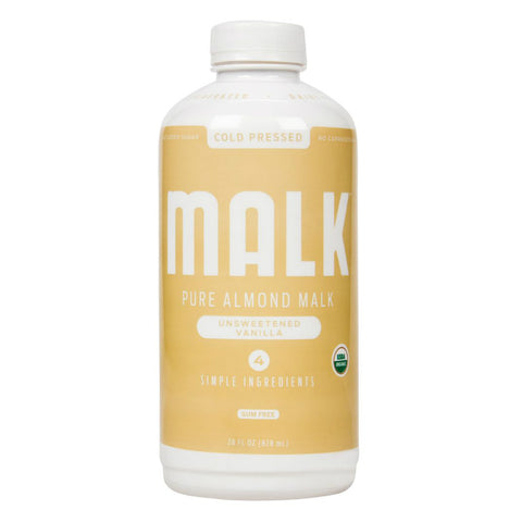 Malk Unsweetened Vanilla Almond Milk 28 oz