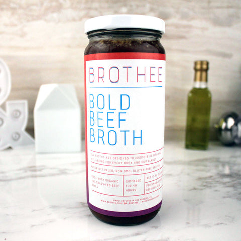 Brothee Organic Bold Beef Bone Broth 8 OZ - Milk and Eggs - 1