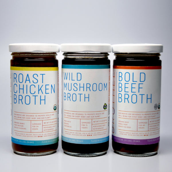Brothee Organic Broth Sampler Pack 16 OZ - Milk and Eggs