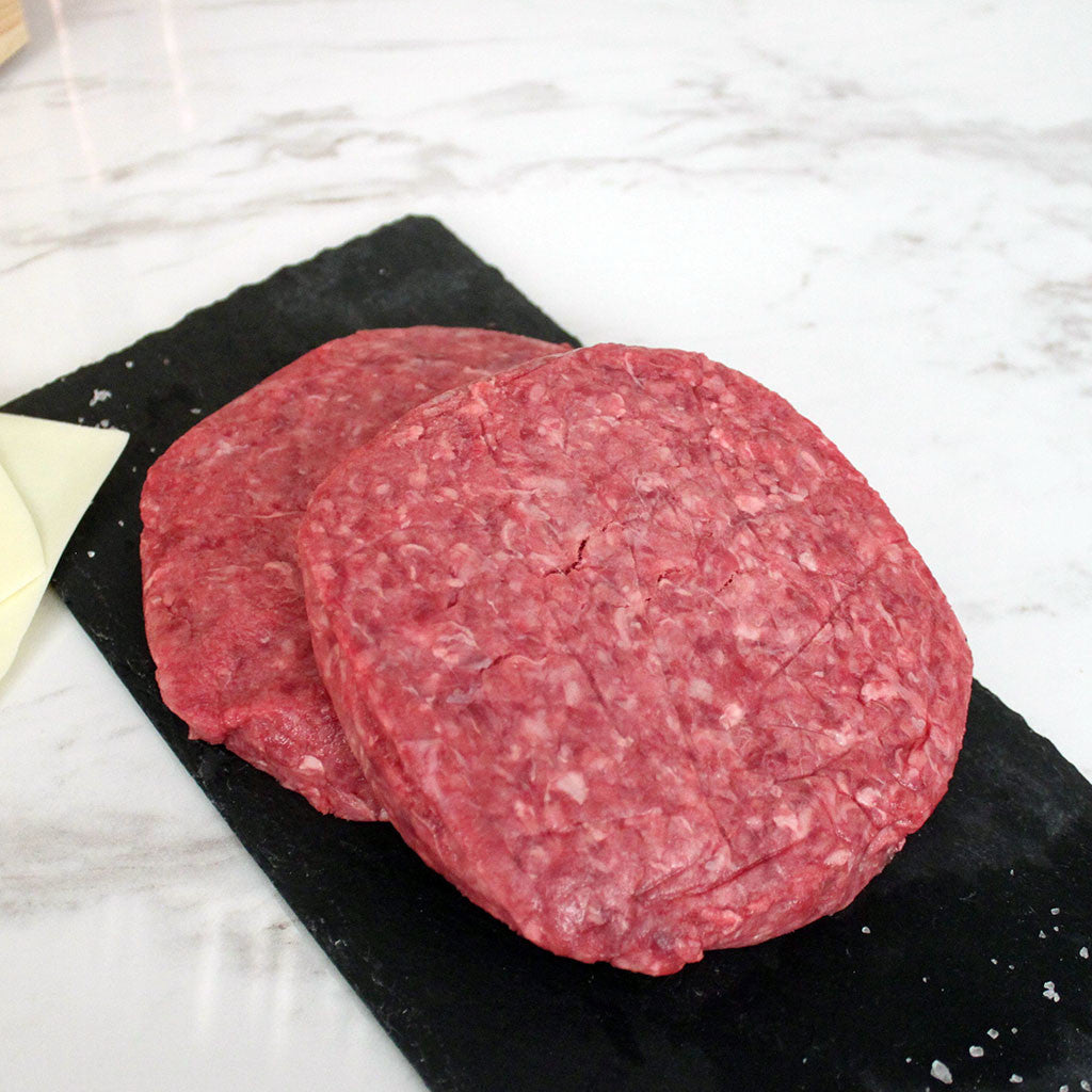 Premium Dry Aged Beef Blend 1/2lb Patty (2) - Milk and Eggs