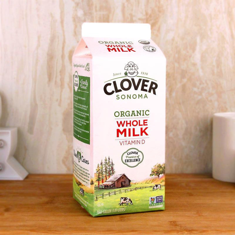 Clover Organic Whole Milk - Milk and Eggs - 1