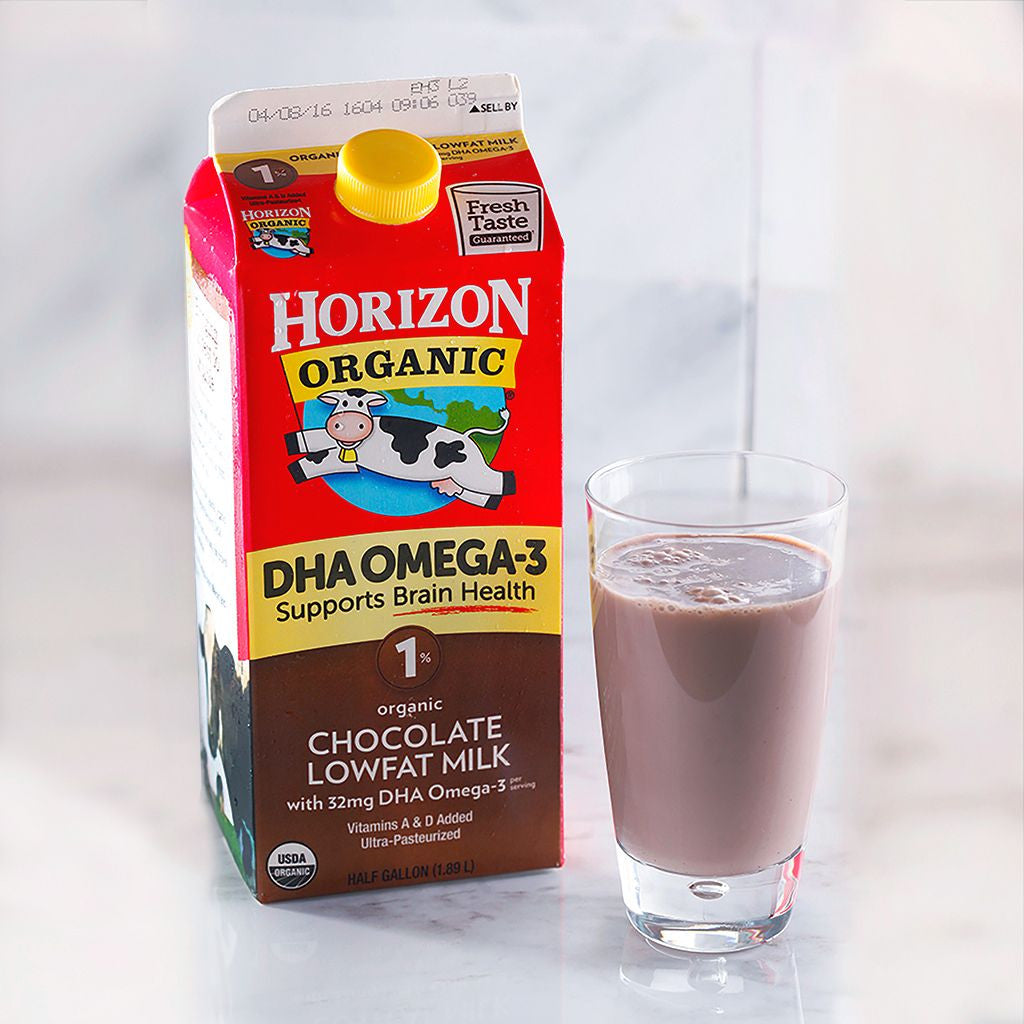 Horizon Organic 1% Chocolate Milk w/ DHA Omega-3 - Milk and Eggs - 1