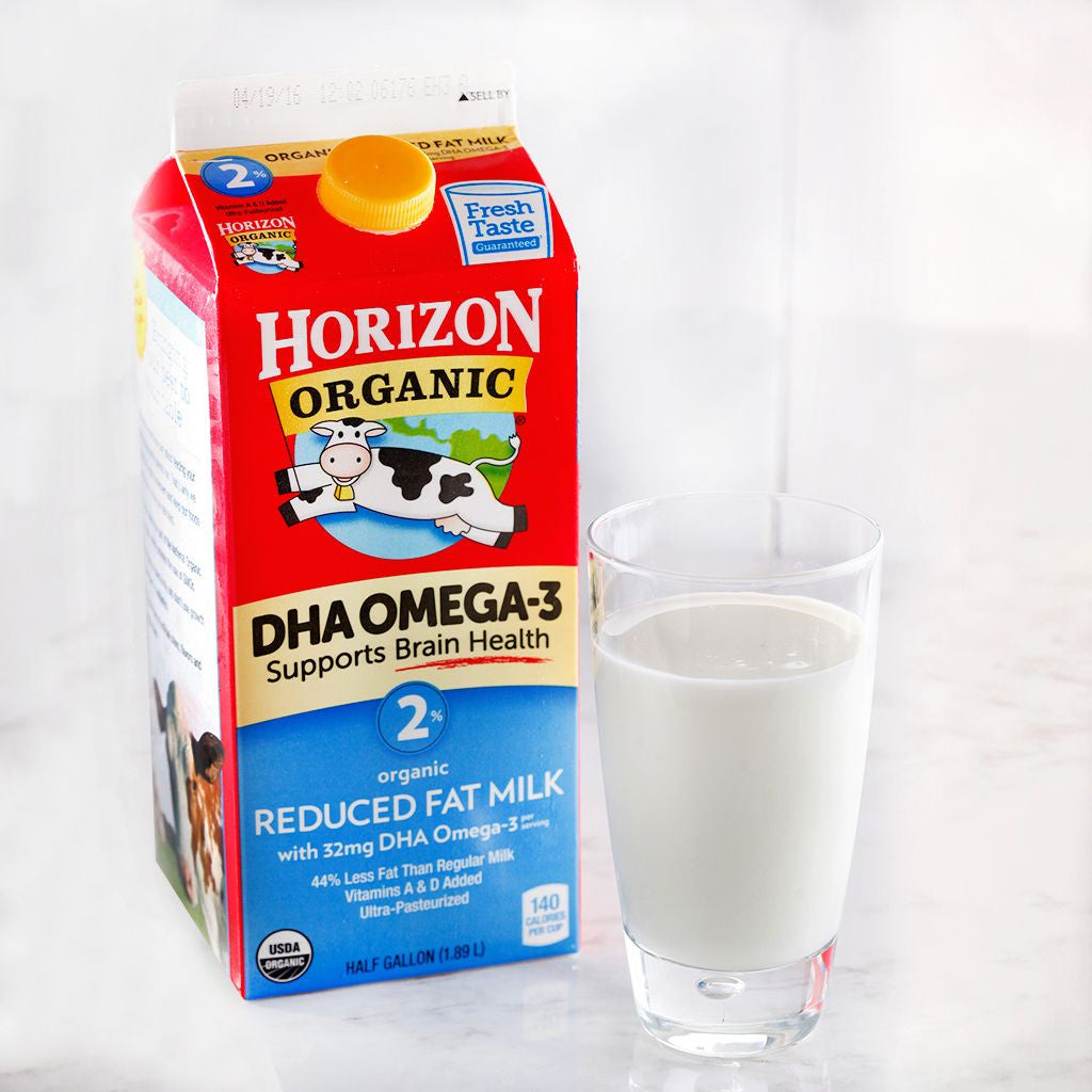 Horizon Organic 2% Reduced Fat Milk w/ DHA Omega 3 - Milk and Eggs