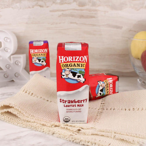 Milk - Horizon Organic Strawberry Lowfat Milk 8 Oz