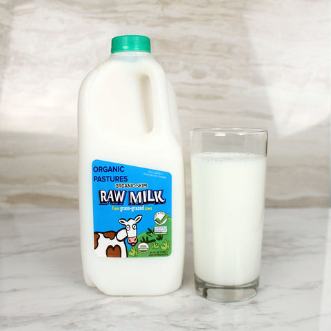 Organic Pastures Raw Skim Milk - Milk and Eggs