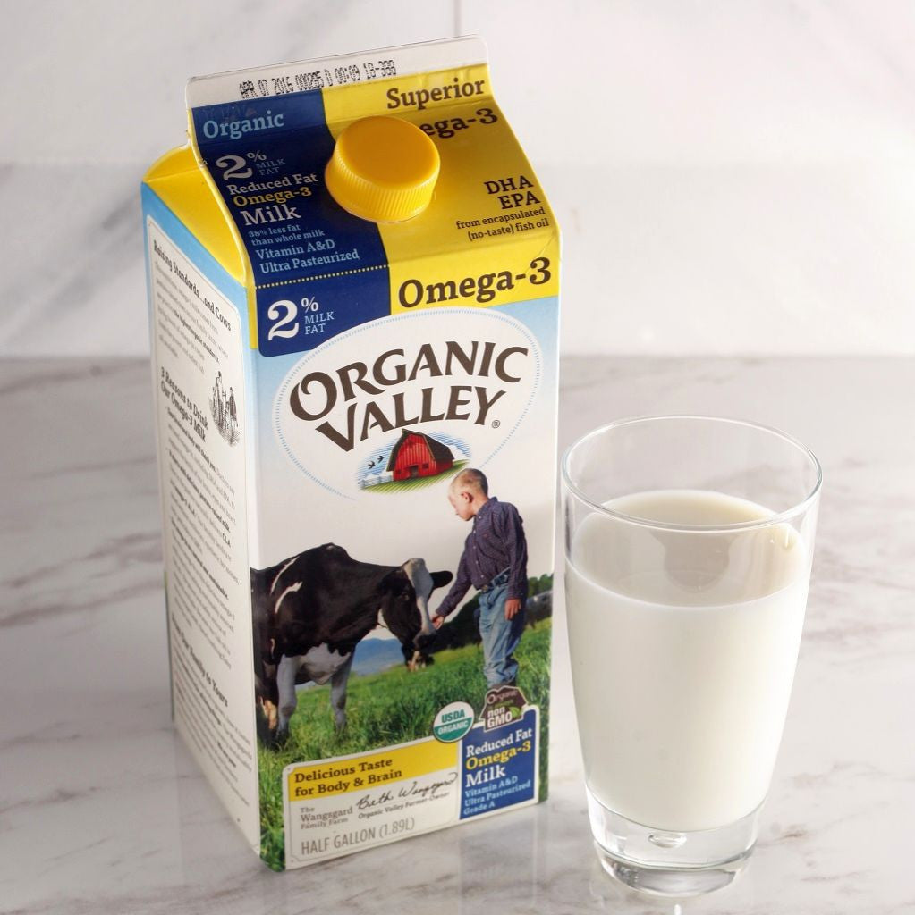 Organic Valley 2% Reduced Fat Omega-3 Milk - Milk and Eggs
