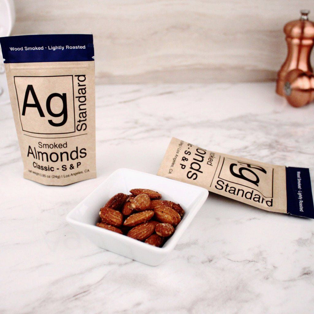 Nuts - AgStandard Smoked Almonds Classic S&P (Salt & Pepper) 0.85 OZ