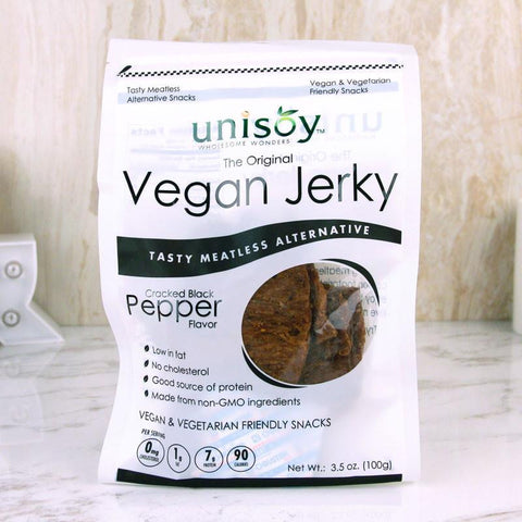 Nuts - Unisoy Vegan Jerky Cracked Black Pepper