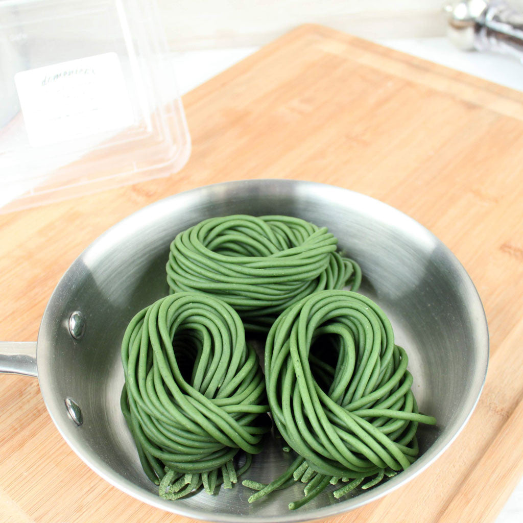 Domenico's Fresh Spinach Bucatini Pasta 12oz - Milk and Eggs