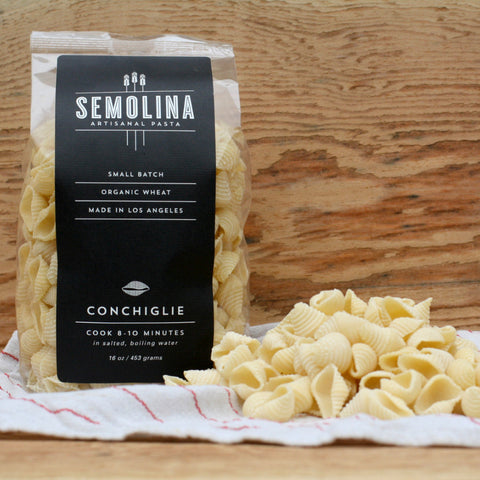 Semolina Organic Dried Pasta Conchiglie 16 OZ - Milk and Eggs - 1