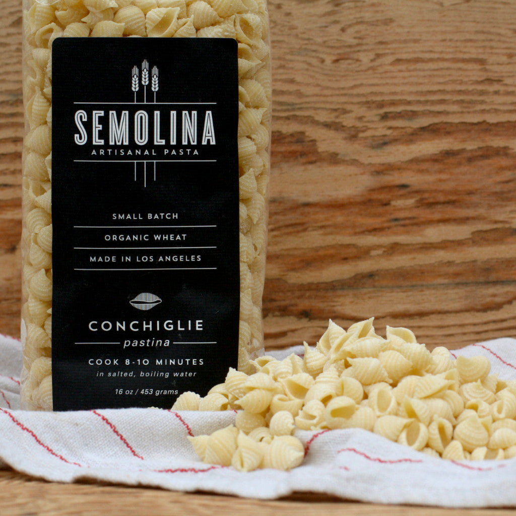 Semolina Organic Dried Pasta Conchiglie Pastina 16 OZ - Milk and Eggs - 1