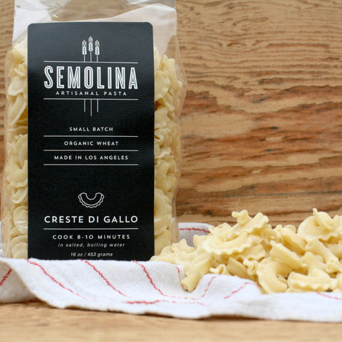 Semolina Organic Dried Pasta Creste Di Gallo 16 OZ - Milk and Eggs - 1